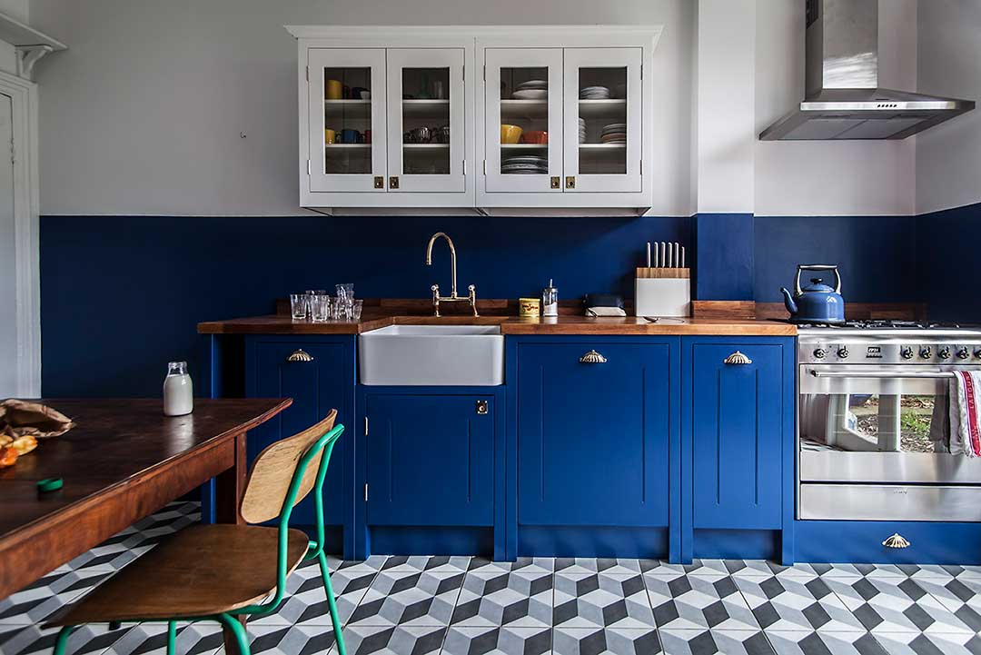 Respray Kitchen Winchester Eastleigh Soulstone Blue