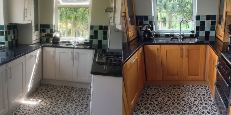 Little Greene Fescue kitchen decorators refurb painting respray andover basingstoke hampshire whitchurch andover