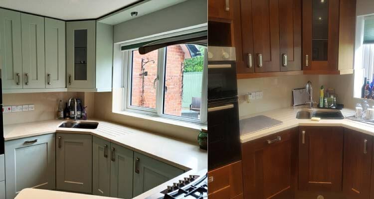 little greene salix kitchen decorators refurb painting respray andover basingstoke hampshire whitchurch andover