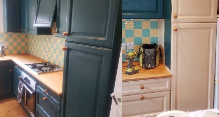 Little Greene Sherwood Forest Little Greene Fescue kitchen decorators refurb painting respray andover basingstoke hampshire whitchurch andover
